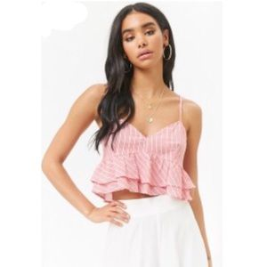 Forever 21 Striped Boho Crop Top